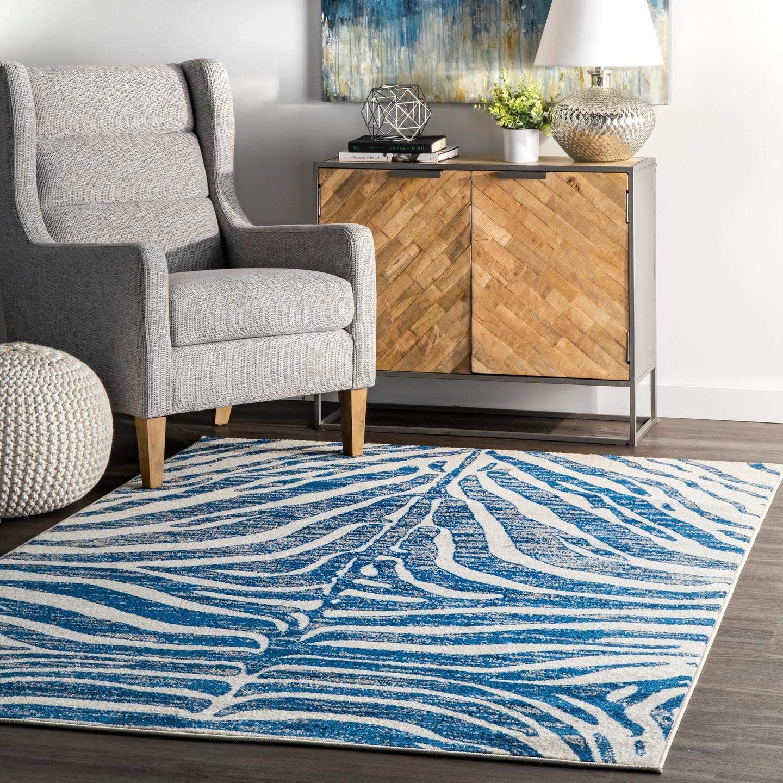 Best living room rug: nuLOOM BODRUM Zebra Stripes Area Rug