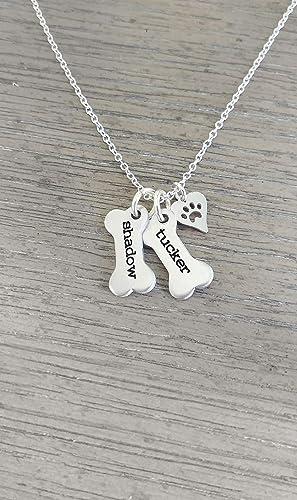 Dog Bone Charm Pendant Jewelry Memento Keepsake Necklace Bracelet Earrings Pet Single or Bulk