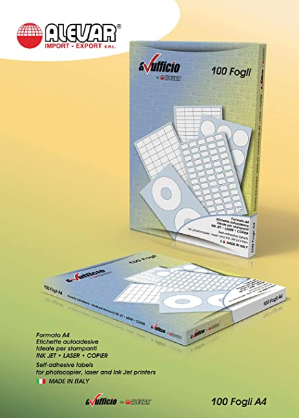 105 x 36 mm 16 etichette bianche per foglio 100 fogli A4 1600 Etichette Adesive con margini