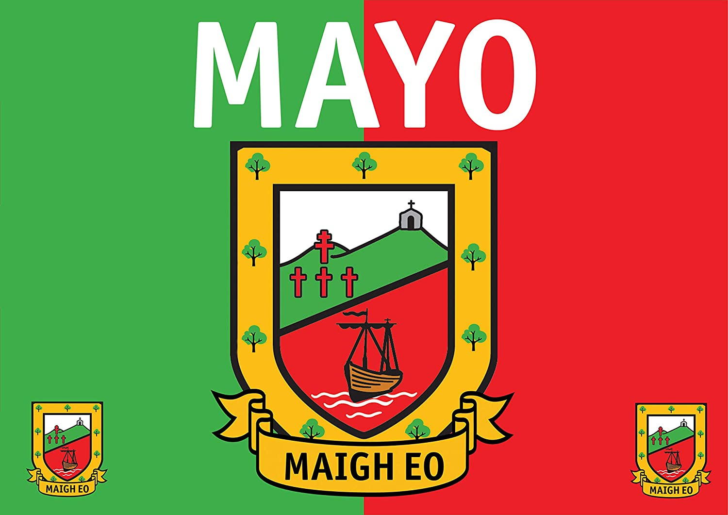 a3 poster county mayo maigh eo flag crest size 11 7 16 5 inches landscape