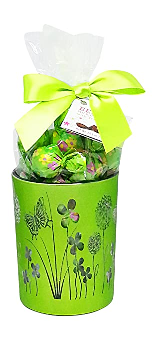 Amazon easter gift for mom belgian chocolate truffles in easter gift for mom belgian chocolate truffles in decorative glass vase grass green negle