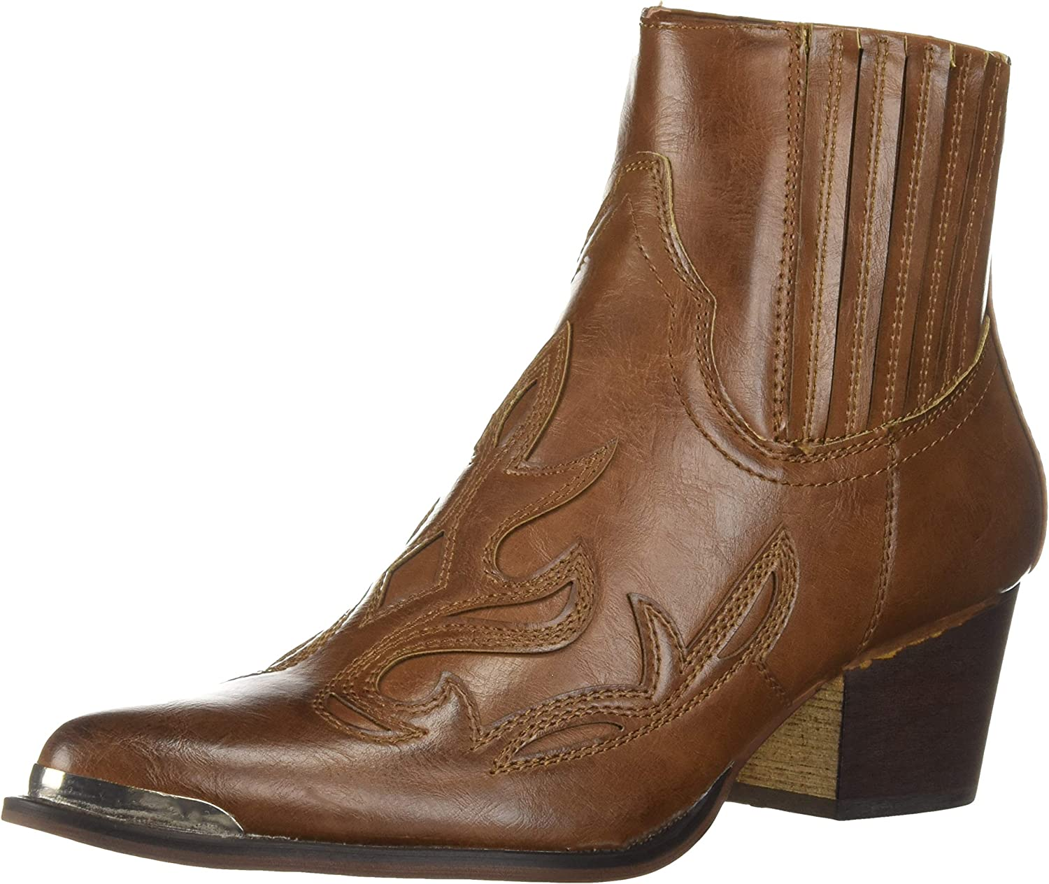 YOKI Womens Western Style Stack Heel Boots