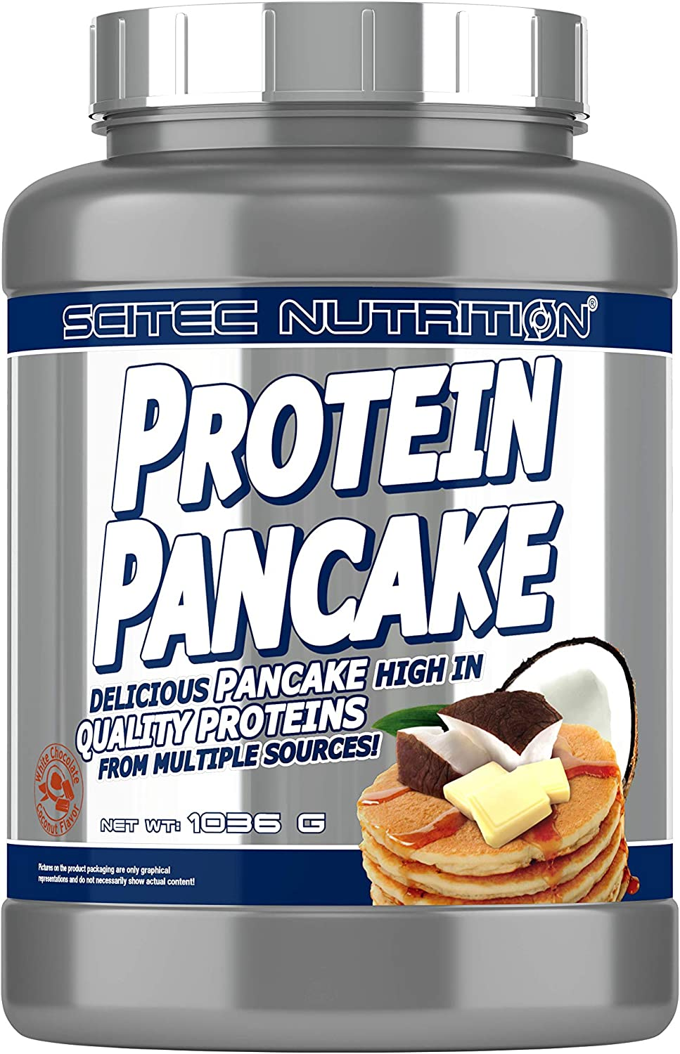 Scitec Nutrition Protein Pancake Mix - 2.28 Pound, White Chocolate Coconut 813GUS7MieLSL1500_