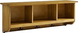 Crosley Furniture Brennan Entryway Hanging Storage Shelf, Natural