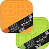 Hyper Pet IQ Treat Mat | Made in USA | Dog Lick Mat & Fun Alternative to Slow Feeder Dog Bowls, Snuffle Mat for Dogs, and Dog