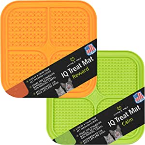 Hyper Pet IQ Treat Mat | Made in USA | Dog Lick Mat & Fun Alternative to Slow Feeder Dog Bowls, Snuffle Mat for Dogs, and Dog Puzzle Toys | Calming Mat for Dog Anxiety Relief | Just Add Healthy Treats
