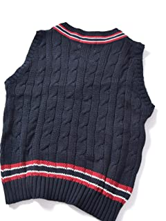 Cotton Cricket Vest 126-53-0003: Navy