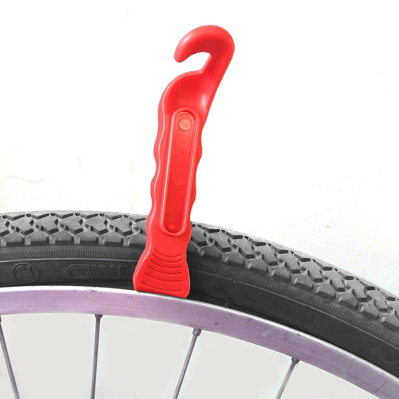 Negro FunFitness Palanca de Neum/áticos de Bicicleta Set de 3 - Palancas Premium Reforzadas para Reparar el Tubo de Bicicletas Kit de Herramienta Necesaria para Ciclista de Camino