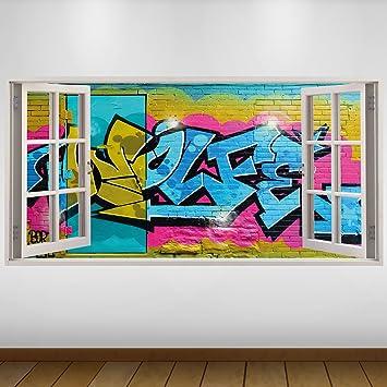 Lagunaproject Extra Grosse Blau Graffiti Buchstaben Ziegel Kultur 3d