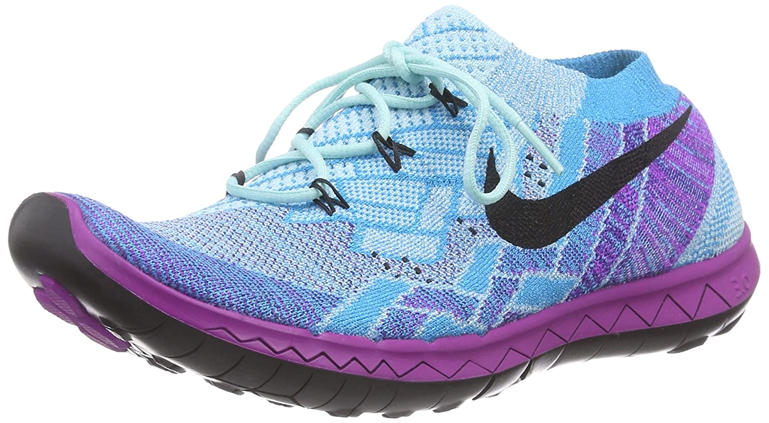 hot sale online d0a5b d9273 Nike Women s Free 3.0 Flyknit Running Shoes (Copa Black Vivid Purple Blue)  (7)  Amazon.ca  Shoes   Handbags