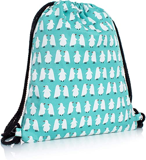 Lightweight Waterproof Large Storage Drawstring Bag For Men /& Women Blue Dinosaur Cinch Backpack Sackpack Tote Sack