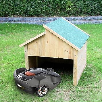 85cm holzgarage mhroboter garagen dach carport garagen rasenmher berdachung