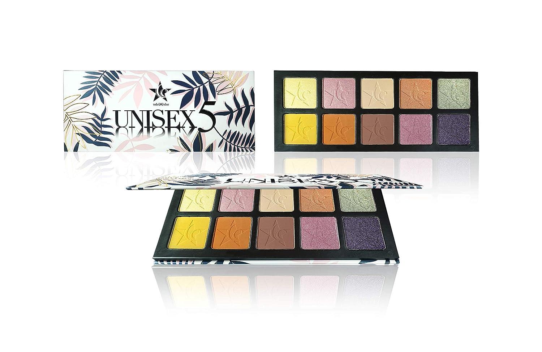 Unisex 10 Color Eyeshadow Palette (Unisex5) - Highly Pigmented - Professional Formulation - Large Pan Palette - Pastel Eye Shadows