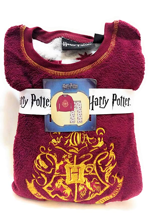 Primark - Pijama de Forro Polar para niños de 7 a 14 años, diseño de Harry Potter Hogwarts Top - Burgundy Bottom - Grey 7-8 Años: Amazon.es: Ropa y ...