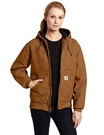 Carhartt Women s Quilted Flannel Lined Sandstone Active Jacket  WJ130 2f9a5d8be5