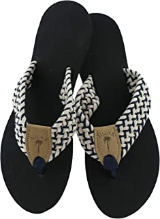 product image for Eliza B Newport Macrame Navy-Natural Sandal with Black Sole