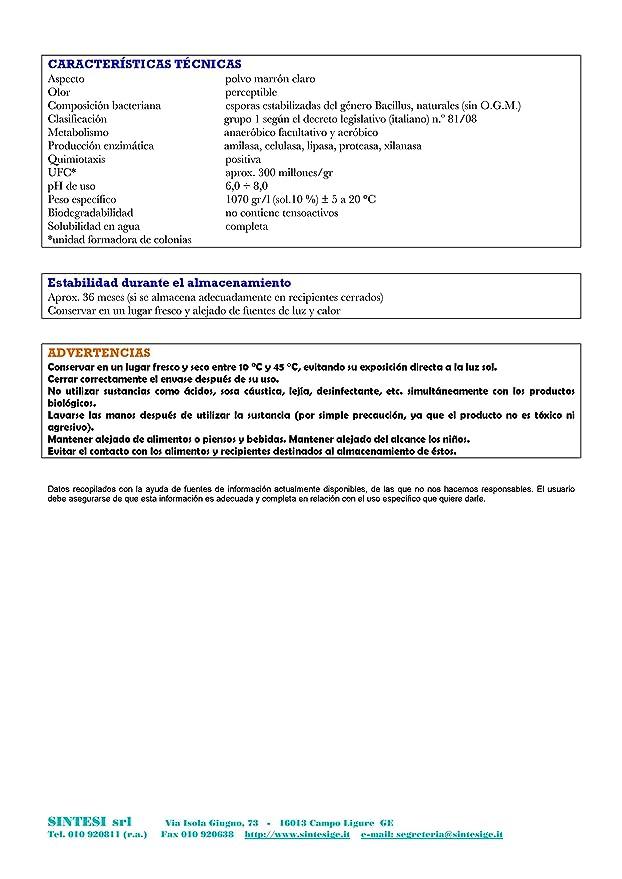 BIOFRESH SPURGO Activador para purga biológica kg.3: Amazon ...