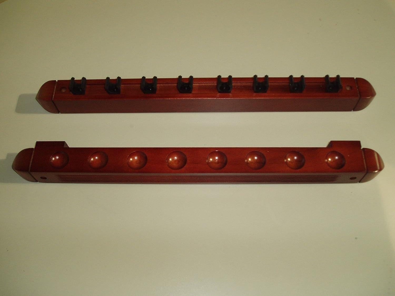 SGL - Estante de 2 piezas para 8 palos de billar, color caoba ...