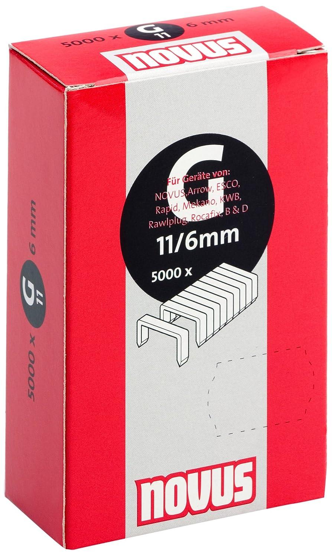 aus verzinktem Stahldraht f/ür Hammertacker Novus Flachdrahtklammern 14 mm L/änge 600 Tacker-Klammern vom Typ G 11//14