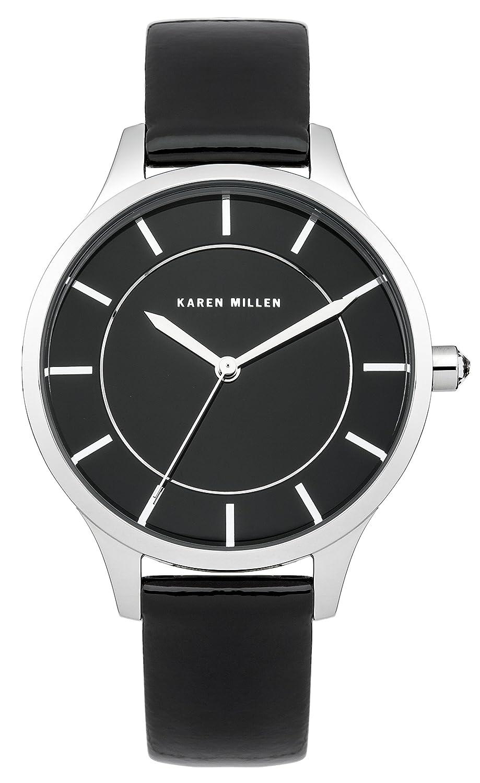 Karen Millen Damen-Armbanduhr Analog Quarz Leder KM133B