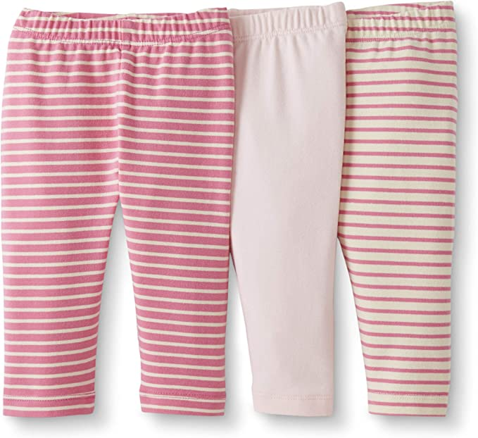 Moon and Back by Hanna Andersson baby-girls 3 Pk Cotton Stretch Legging Leggings