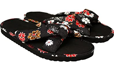 bbc56e83fa50a8 Ladies Womens Summer Floral Print Bow front Slip On Open Toe Beach Flip  Flops mule sandals