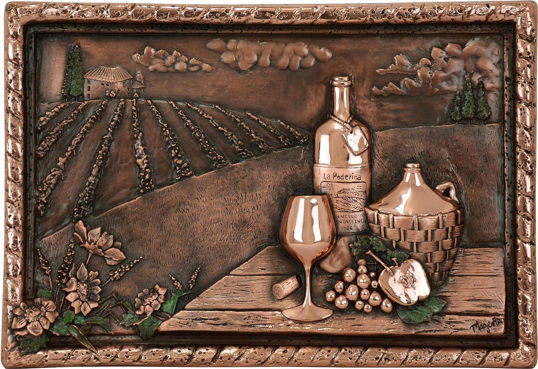 Amazon Com Vineyard View Kitchen Backsplash Copper Mural Embossed Metallic Art For Home Decoration 22 X 15 X 2 5 Inches Kitchen Dining