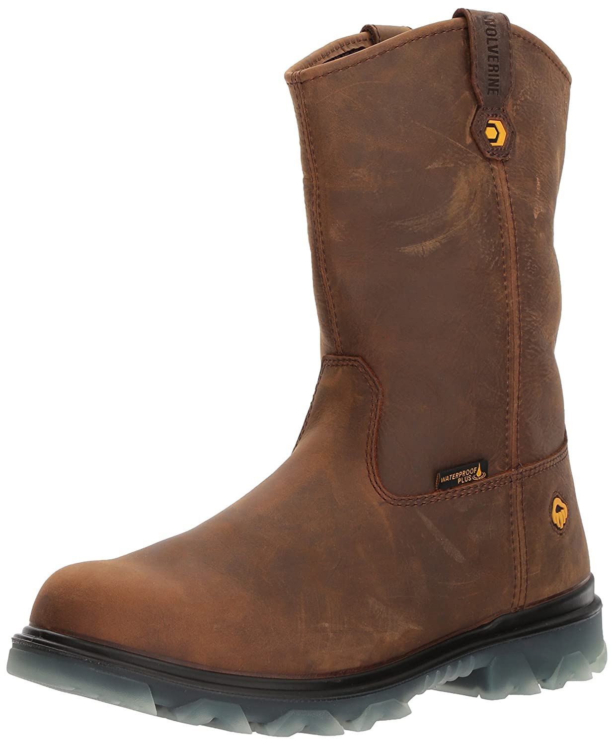 ed8c5b08811 Wolverine Men's I-90 Waterproof Composite-Toe Wellington Construction Boot