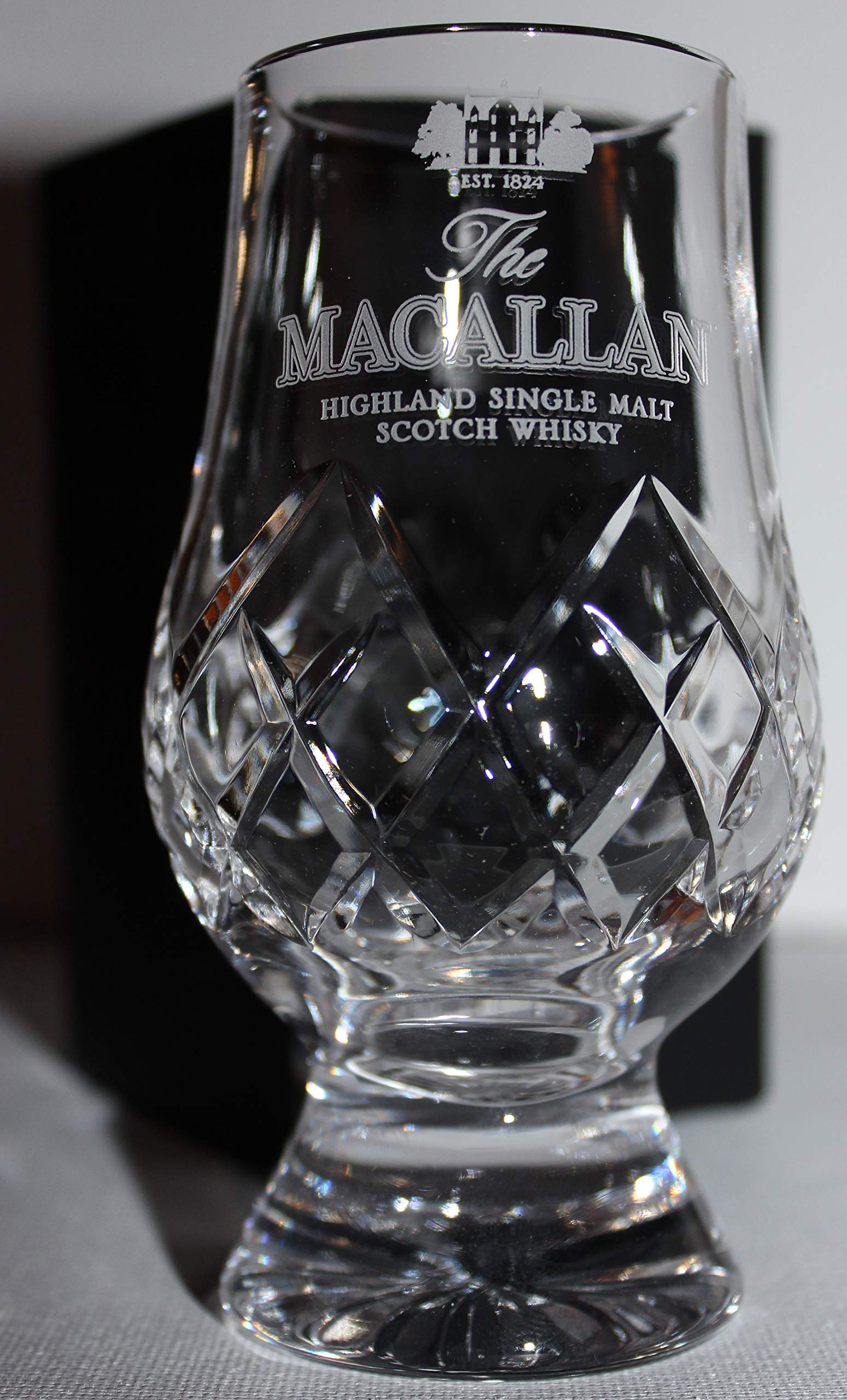 THE MACALLAN OFFICIAL GLENCAIRN CUT CRYSTAL SCOTCH MALT WHISKY TASTING GLASS