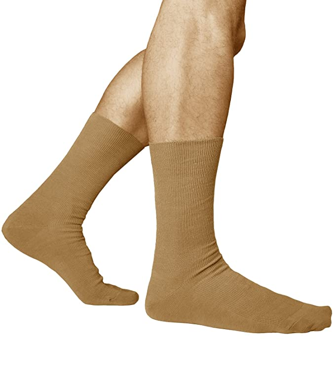 Vitsocks Non Elastic Socks for Men (3x PACK), 98% COTTON, Loose-Top Non-Binding for Tired Sore Feet, Health at Amazon Mens Clothing store: