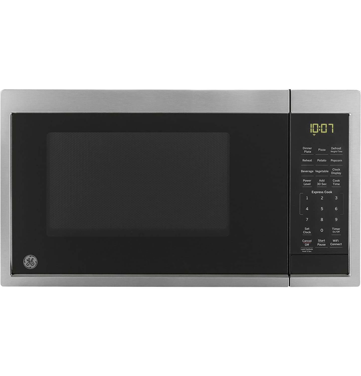 GE JES1097SMSS Smart Countertop Microwave Oven, Works with Alexa, Scan-To-Cook Technology, Smart Sensor, Easy Clean Interior, .9 Cu.ft/900W, Stainless Steel