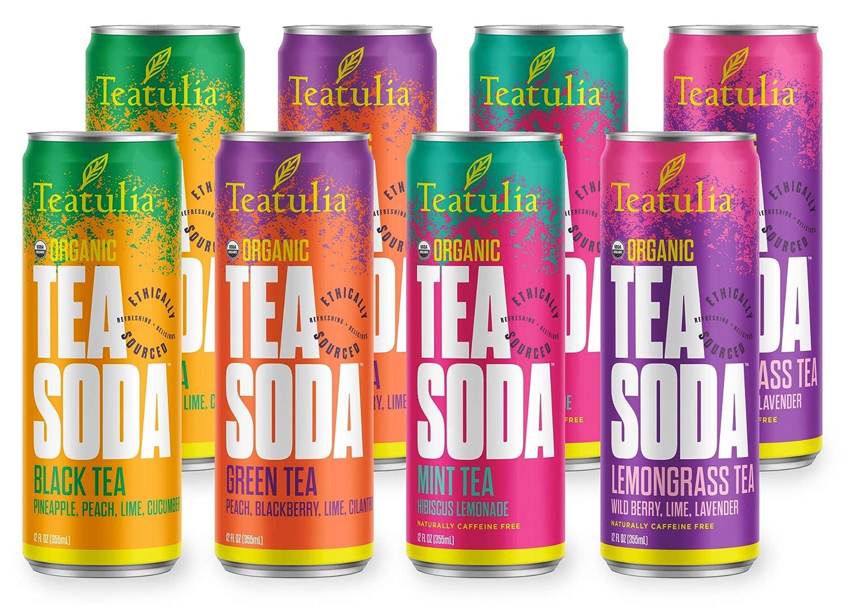 The Teatulia Organic Tea Soda Sampler travel product recommended by Linda Appel Lipsius on Pretty Progressive.