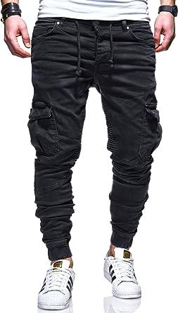 MT Styles Style Biker Jogging-Jeans Pantalon