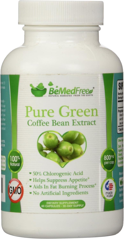 Amazon Com Bemedfree Com Pure Green Coffee Bean Extract 800mg All