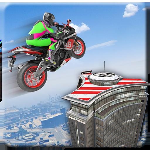 Superhero Mega Ramp Moto Rider: 3D GT Auto Stunts ()
