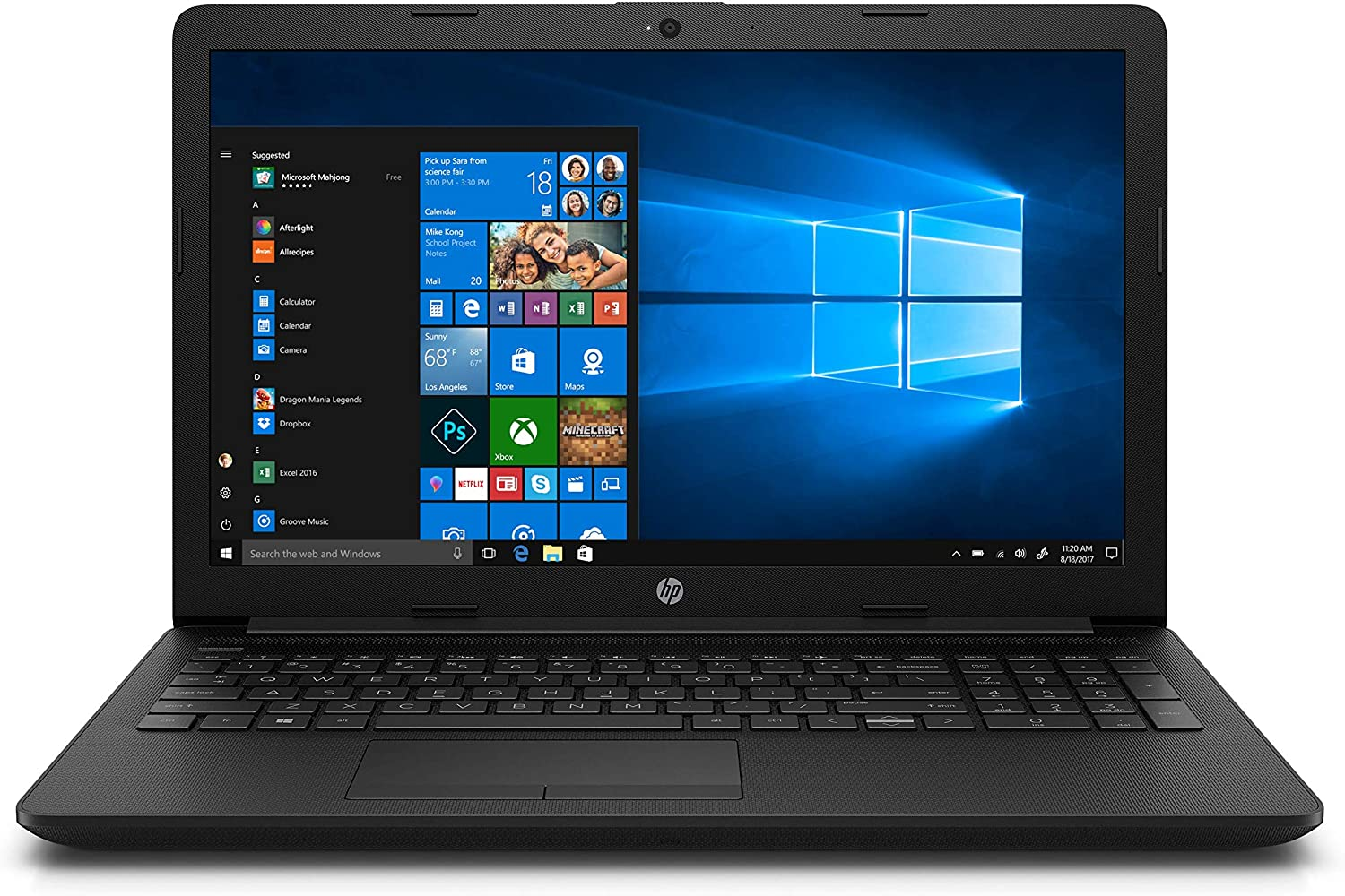 HP 15 da0389tu 15.6-inch Laptop (Pentium Gold 4417U/4GB/1TB HDD/Windows 10, Home/Integrated Graphics), Jet Black
