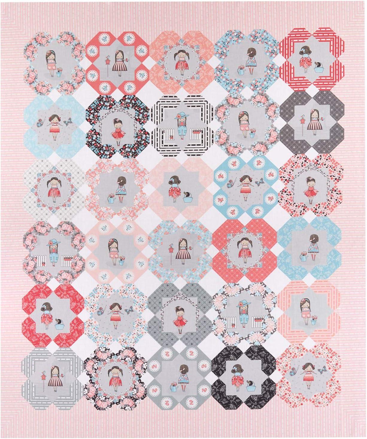 Riley Blake Designs Abbie's Garden Quilt 36in Panel Multi Quilt Fabric