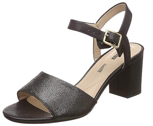 7081d281d048 Clarks Women s Deva Quest Black Combi Leather Fashion Sandals-5 UK India (38