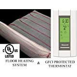 10 Sqft Warming Systems 120 V Electric Tile Radiant Floor Heating Mat with GFCI Protected Programmable Thermostat