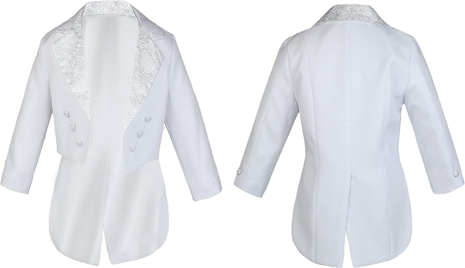 Unotux Baby Boy Kid Christening Baptism White Suit Tail Jacket Virgin Mary Maria Sm-20