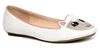 c64300d0f Amazon.com | Cute to The Core Critter Round Toe Casual Ballet Flats ...