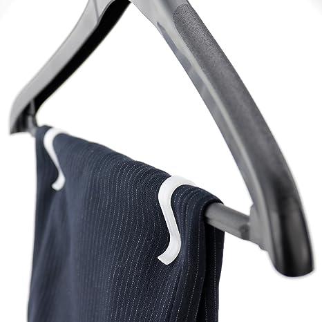 HANGERWORLD 40 Kunststoff Befestigung Klammern 3cm Schwarz Kleidung auf Kleiderb/ügel befestigen