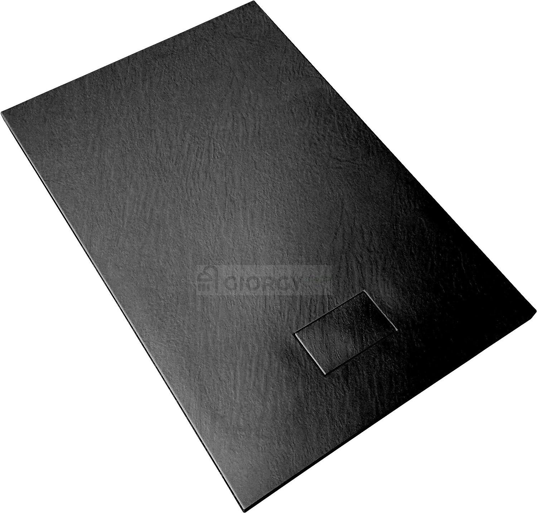 Piatto doccia 70x170 Grigio cemento H.2.6 cm effetto pietra ardesia SMC in resina termoformata.