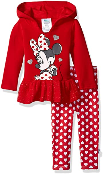 b984a45fa3c4 Amazon.com  Disney Baby Girls  Minnie Mouse 2 Piece Hooded Top and ...