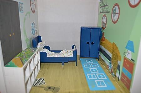 Letti Bassi Per Bambini Ikea.Bambole Camera Da Letto Sfondo Stanza Dei Bambini Mobili Adesivi