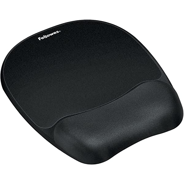 Black Fellowes 9112101 Crystals Gel Mouse Pad and Wrist Support
