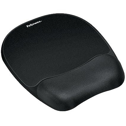 amazon com fellowes memory foam mouse pad wrist rest black