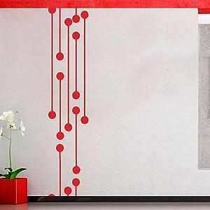Vinyl Wall Art Decal - Geometric Digital Circuit - 60