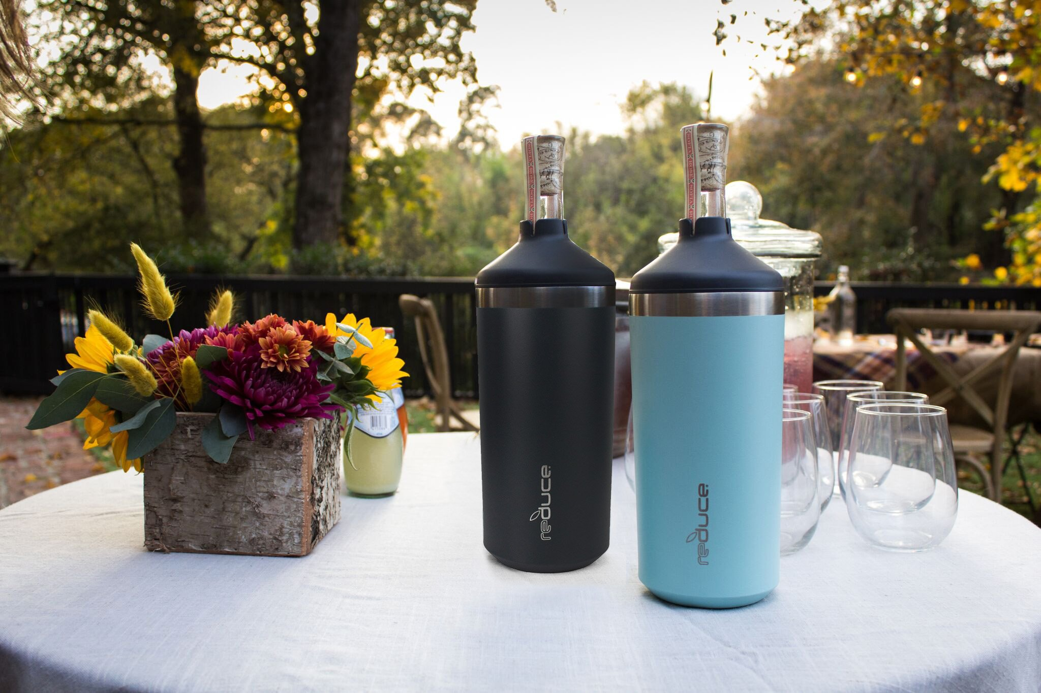 Portable Wine Bottle Cooler by REDUCE - Stainless Steel, Insulated Chiller to Keep Wine at the Perfect Temperature, No Ice Required - Ideal for Outdoor Summer Parties, Fits Most Wine Bottles - Mint by REDUCE (Image #4)