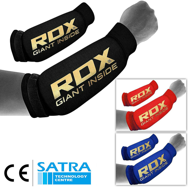 CE Certifi/é Approuv/é par SATRA RDX Protection Avant Bras Manchon Prot/ège Compression Boxe Taekwondo Coude Sport MMA